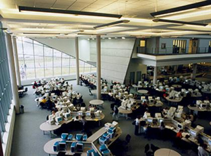 Lecture hall at Seneca College on the York University campus.